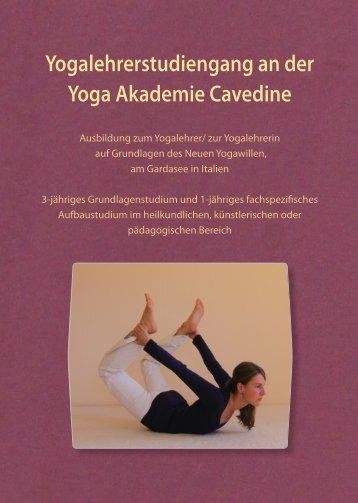 Flyer Ausbildung - Institut für Yoga und Heilkunde