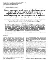 Parent-community involvement in school ... - Teo-Education