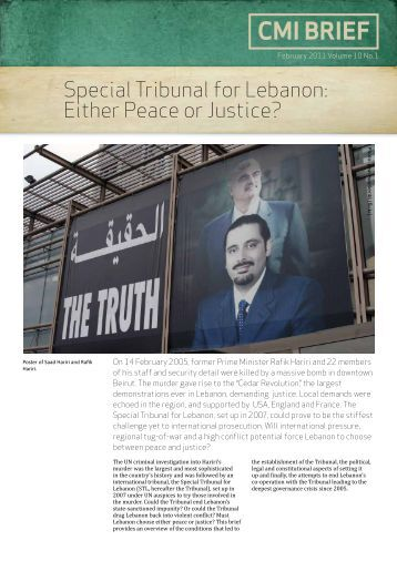 Special Tribunal for Lebanon - CMI