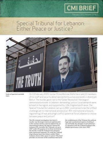 Special Tribunal for Lebanon - CMI