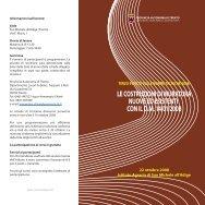 il programma 22 ottobre 2008 - Lavori Pubblici - Provincia autonoma ...