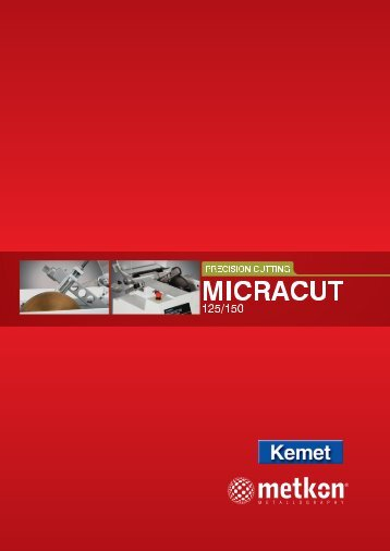 MICRACUT 125 and 150 complete catalogue - Kemet