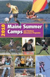 why a camp experience? - Maine Summer Camps