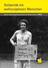 Solidarität mit wohnungslosen Menschen - Arge für Obdachlose