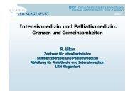 Intensivmedizin und Palliativmedizin: - palliativ-medizin.at