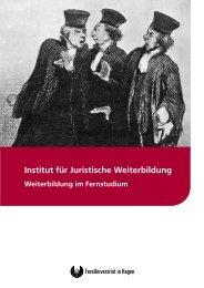 Gesamtbroschüre - Institut für juristische Weiterbildung