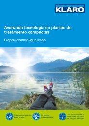 Avanzada tecnología en plantas de tratamiento ... - KLARO GmbH