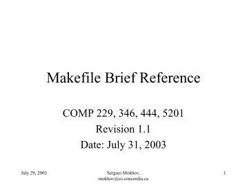 PDF - Makefile Brief Reference