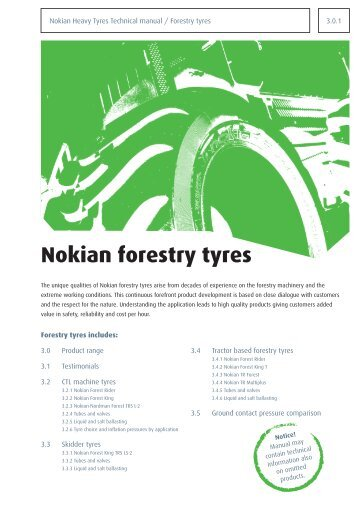 Nokian forestry tyres - Baltic FCS