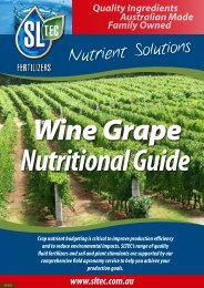 Wine Grape Nutritional Guide - Sustainable Liquid Technology