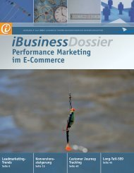 Performance Marketing im E-Commerce - iBusiness