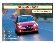 INDIAN AUTO INDUSTRY …. the way forward - IIM