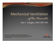 Neonatal Mechanical Ventilation - Foocus