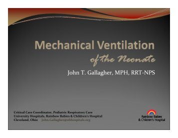 Neonatal Mechanical Ventilation - Foocus