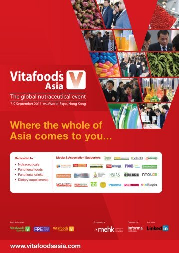 Where the whole of Asia comes to you... - Vitafoods Asia