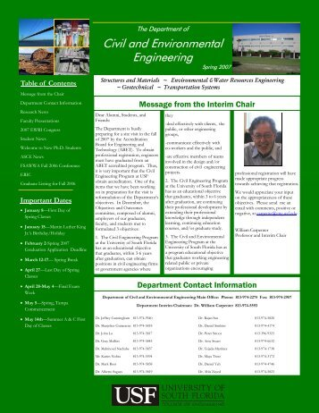 Spring 2007 Newsletter - Civil & Environmental Engineering
