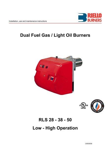 Dual Fuel Gas Light Oil Burners RLS 28 Power Equipment