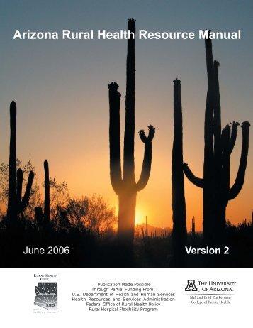 AZ Rural Health Resource Manual 2006.indd - Arizona Center for ...