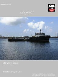 Specification - Gulf Offshore Logistics