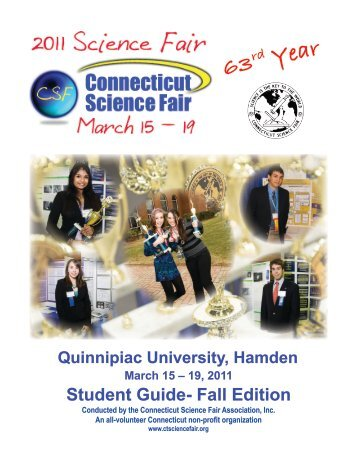 CT Science Fair 2011 Student Guide - Connecticut State Science Fair