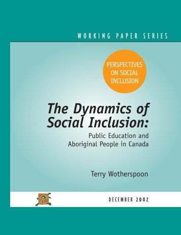 The Dynamics of Social Inclusion: Public Education and ... - CERIS