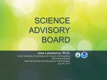 NOAA Update - NOAA's Science Advisory Board