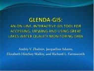 GLENDA-GIS: AN ON-LINE, INTERACTIVE GIS ... - GeoTools - NOAA