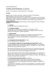 Verslag ALV 21 april 2012 - De Zoogdiervereniging