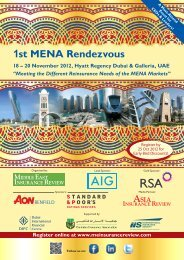 1st MENA Rendezvous - Middle East Insurance Review