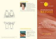 MASSAGE - STUDIO für AYURVEDA YOGA