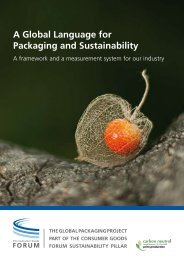 Report: A Global language for packaging and sustainability
