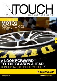 A LOOK FORWARD TO THE SEASON AHEAD - Dunlop Motorsport
