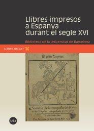 Llibres impresos a Espanya durant el segle XVI - Les Publicacions ...