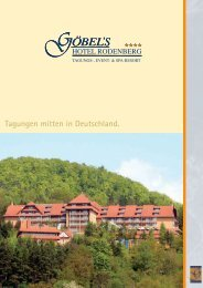 Tagungen mitten in Deutschland. - Göbel Hotels