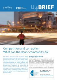 Competition and corruption - CMI
