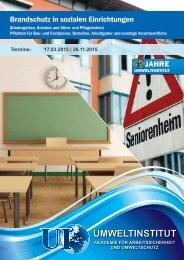 Brandschutz in sozialen Einrichtungen - Umweltinstitut Offenbach