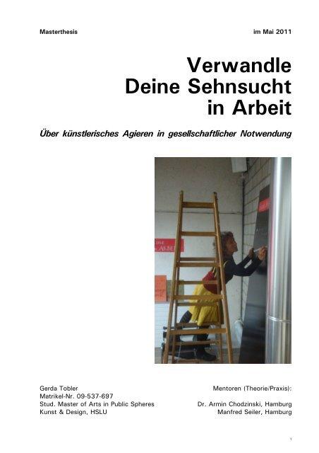 Masterthesis - Gerda Tobler