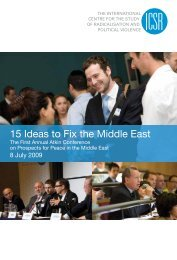 15 Ideas to Fix the Middle East - ICSR