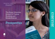 Prospectus 2012:2013 - The Royal Marsden