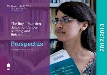 Prospectus 2012:2013 - The Royal Marsden