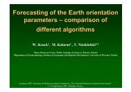 Forecasting of the Earth orientation parameters ... - SYRTE
