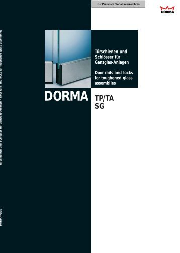 DORMA TP/TA - Suza Glass