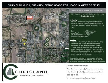 fully furnished, turnkey, office space for lease in west greeley
