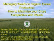 Managing Weeds in Organic Cereal Production
