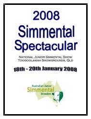 National Junior Simmental Show Toogoolawah Showgrounds, Qld