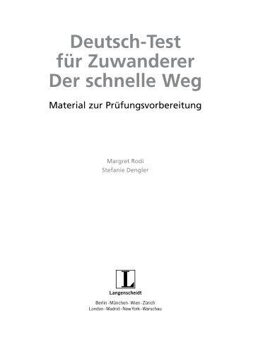 Zertifikat Deutsch. Der schnelle Weg - FreeGermanBooks