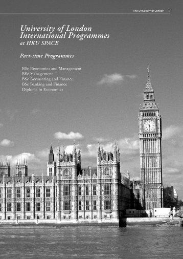 University of London International Programmes - HKU School of ...