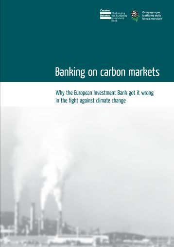 Banking on carbon markets - Counter Balance