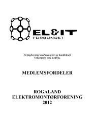 Medlemsfordeler pr 09.02.2012 - Rogaland Elektromontørforening
