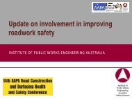Update on involvement in improving roadwork safety - Aapaq.org